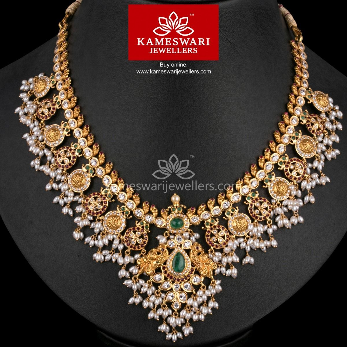 Buy Necklaces Online Short Guttapusalu Divine Blend From Kameswari Jewellers Gold Jewellery Design Necklaces Gold Jewelry Fashion Buy Necklace