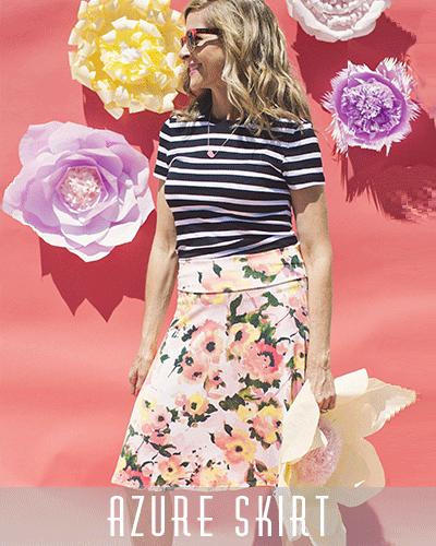 RockInRoe - Azure Skirt