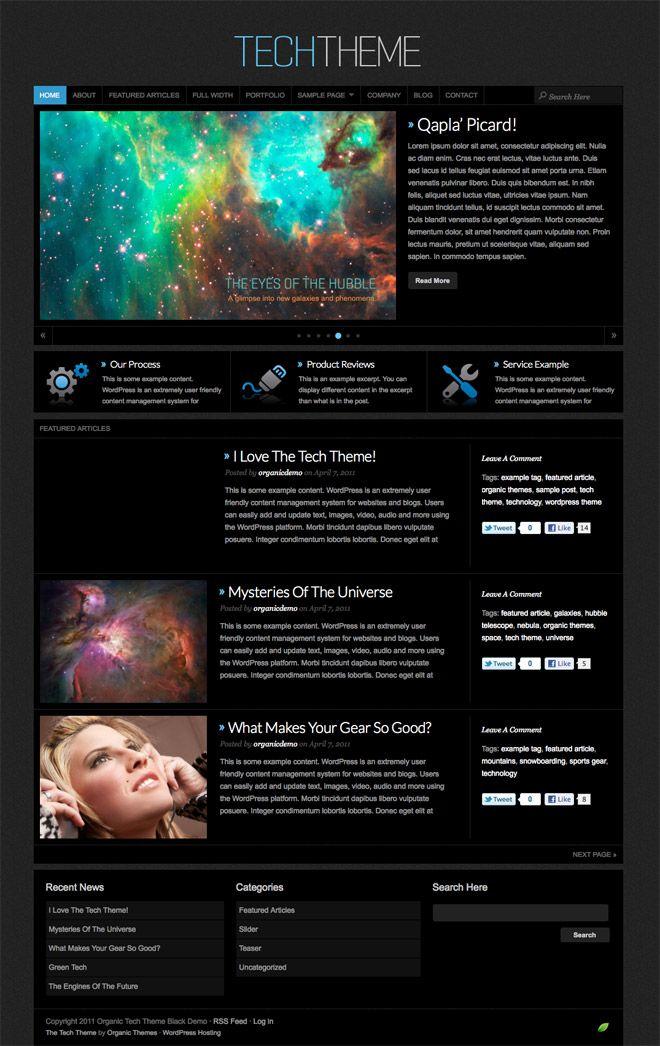 Organic Themes Tech Theme Review Theme, Business