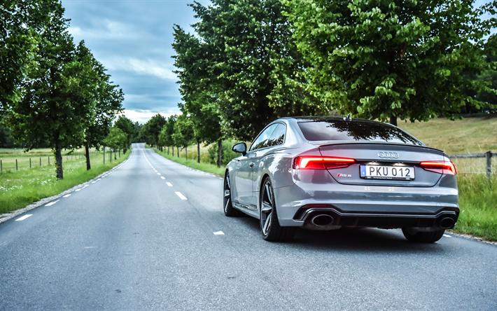 Lataa kuva 4k, Audi RS5 Coupe, tie, 2018 autoja, saksan autoja, uusi RS5, Audi