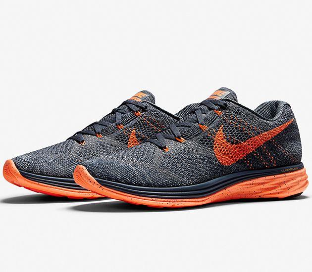 best website e69e7 6d48d Nike Flyknit Lunar 3 – Classic Charcoal   Dark Grey – Bright Citrus – Total  Orange