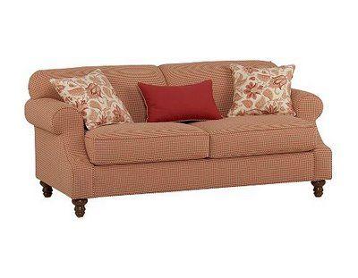 Red Gingham Sofa
