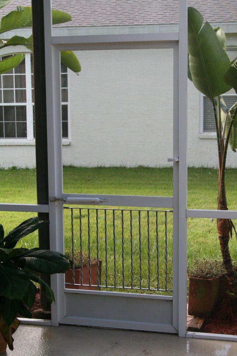 Half Screen Door Grille Gate Style Simple Clean Design Made Etsy Screen Door Grilles Screen Door Half Screen
