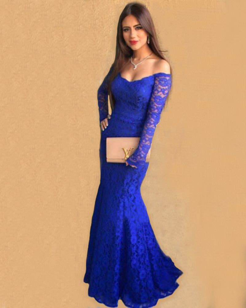 Royal Blue Formal Dresses With Sleeves - Gowns and Dress ...
