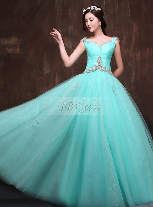 Turquoise gown from TBDress.com
