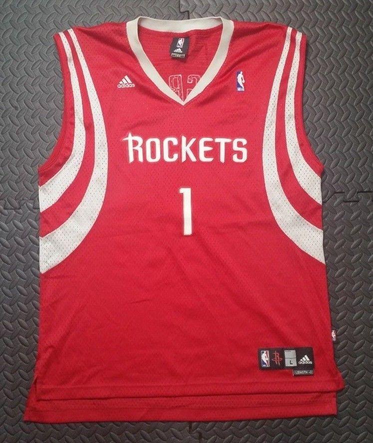 b18c700e Men's Houston Rockets Olajuwon NBA Basketball Adidas Red Jersey Shirt  Medium M | eBay. Reebok Houston Rockets Tracy McGrady ...