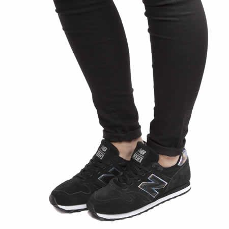 d1c7df78430 womens new balance black & silver 373 suede & mesh trainers €69 ...