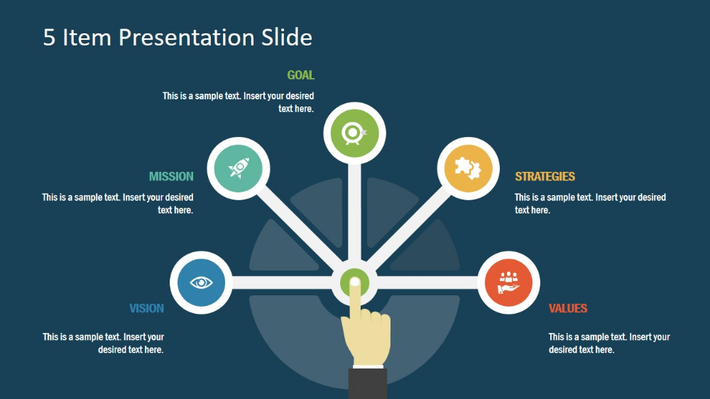 Free 5 Item Presentation Slide for PowerPoint