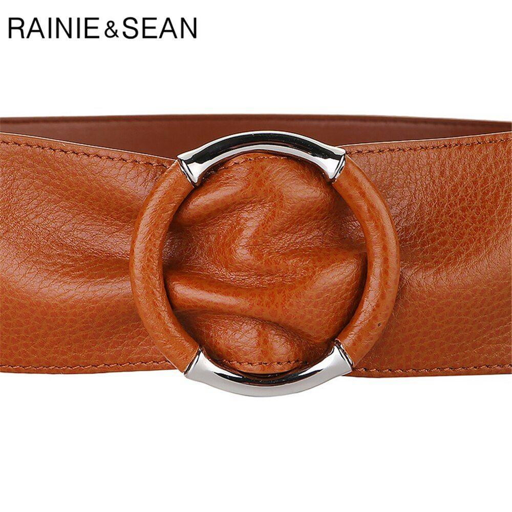 Women/'s Waistband Skinny Thin Dress Genuine Leather Belt Waist No Buckle Solid