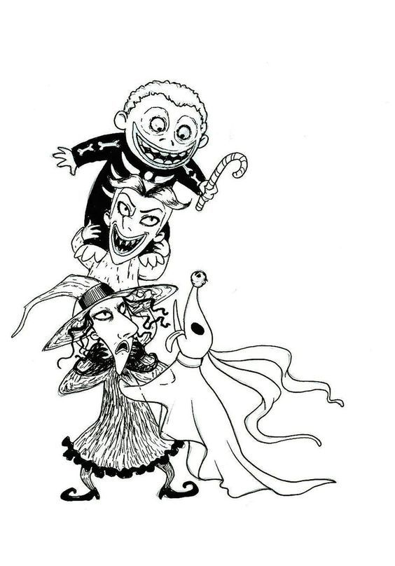 the nightmare before christmas zero coloring pages lock