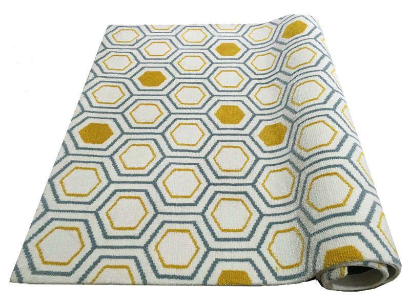 tapis 160x230 cm izia coloris jaune et