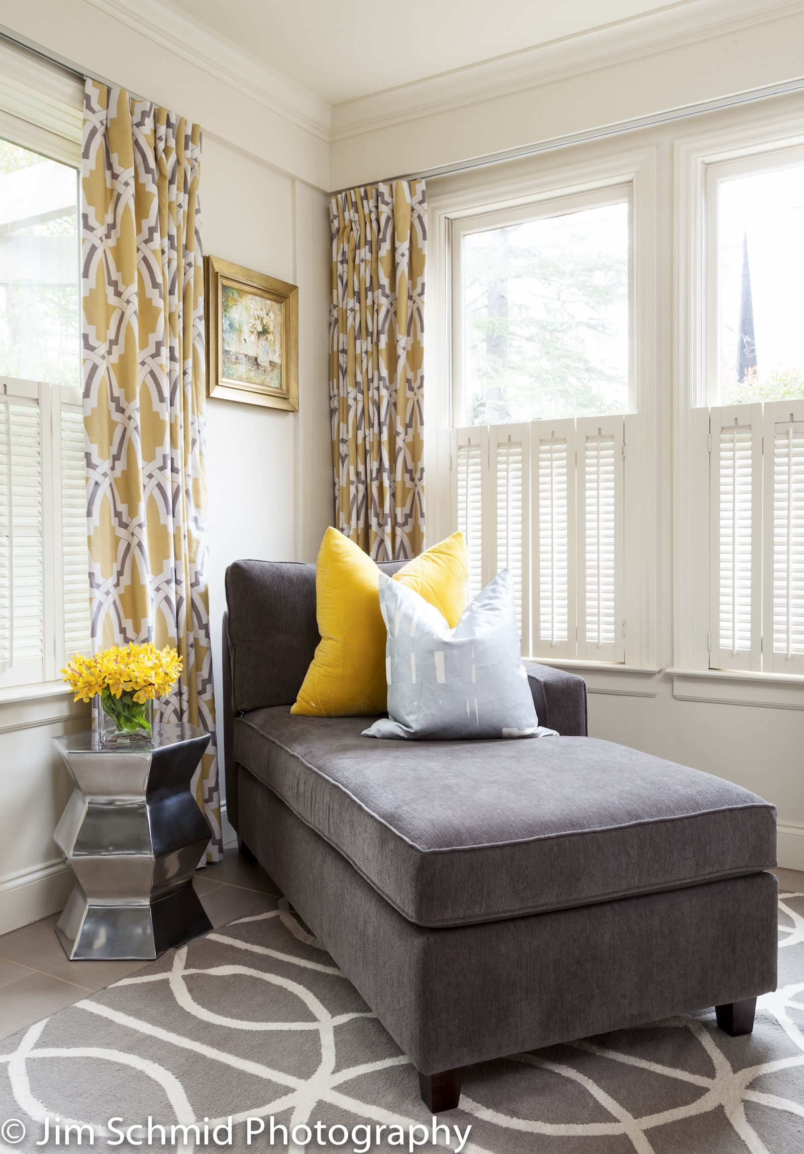 Yellow And Grey Room Designs: Same Home Office, Different View. I Love A Little Reading