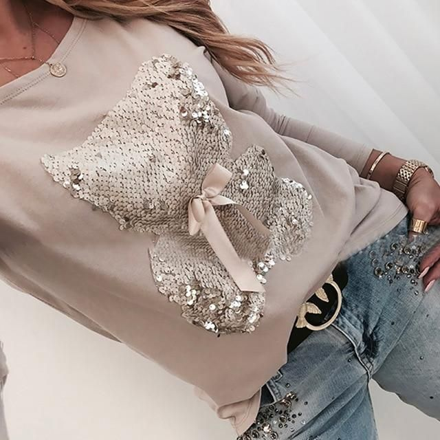 Women Diamond Splice blouse Shirts Office Lady casual o neck patchwork pullovers Femal Autumn leopard print Long sleeve Shirts – 02 Yellow L