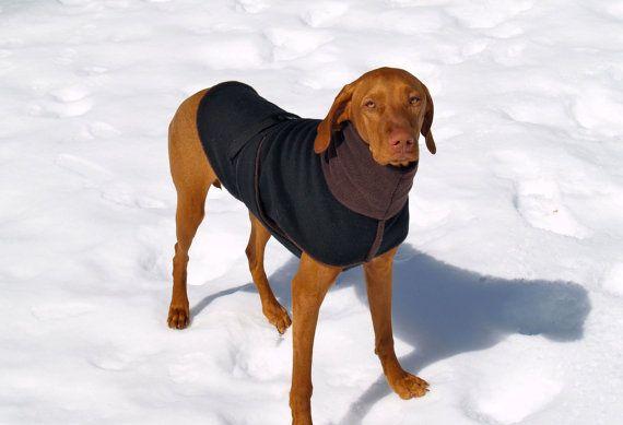 Fleece Dog Coat Vest For Vizsla
