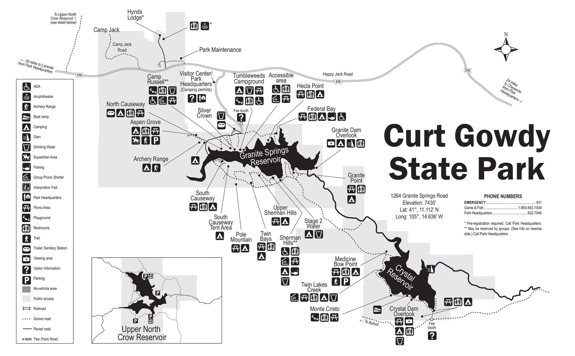 Map Of Curt Gowdy Updated In