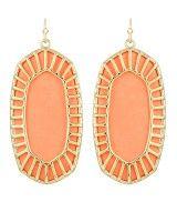 Delilah Earrings in Coral