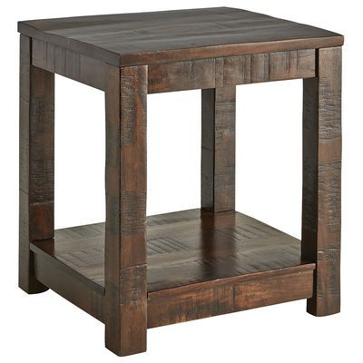 Parsons Tobacco Brown End Table Family Room Wood End
