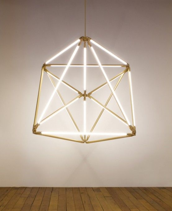 High Quality Futuristic Geometric LED Light Structure | DigsDigs Images