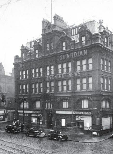 Manchester Guardian's Cross Street office (minus the word Manchester) c1939 Photograph: Walter Doughty for the Guardian Walter Doughty/Guardian