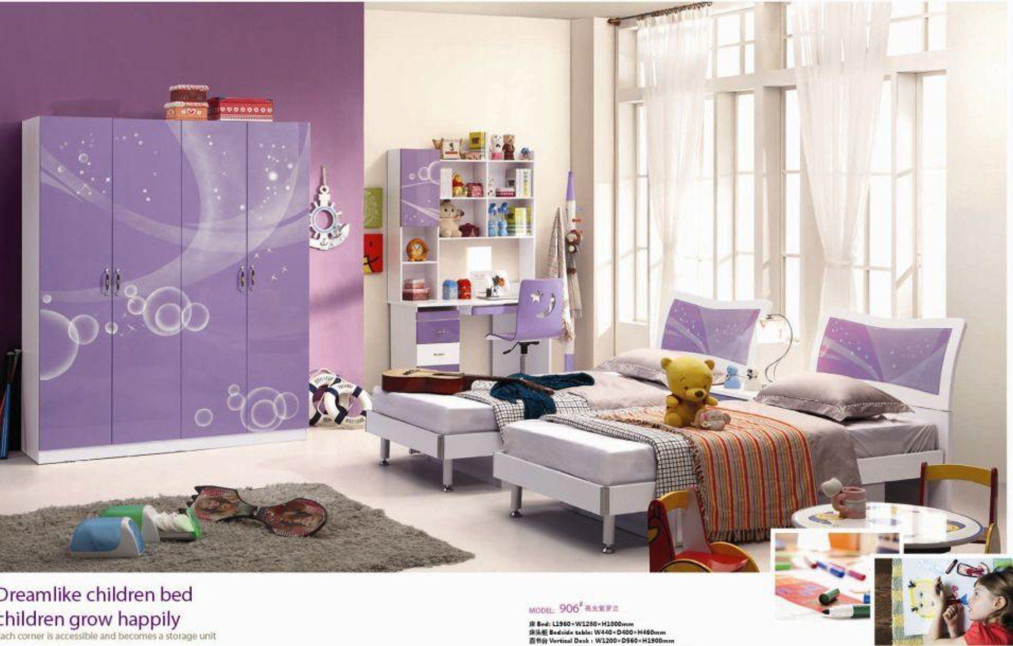 Loft bed with desk and chair  Child Desk Chair Loft Bed Set Kids Table Wood Kindergarten Furniture