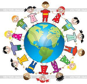 joy to the world clip art vector children around the world rh pinterest com