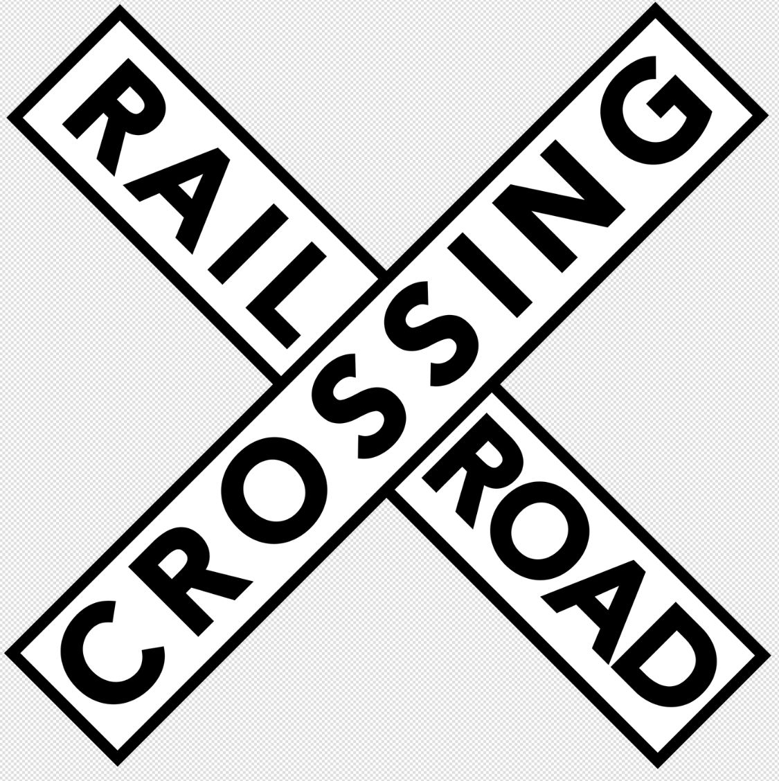 photograph regarding Railroad Crossing Sign Printable named Railroad Crossing Indication Clip Artwork or Printable Signs and symptoms against