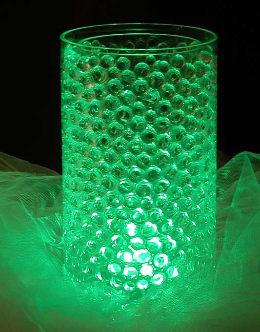 Water Bead Centerpieces Are Great But Use Glow Sticks Instead Of Submerisble Leds To Save Money
