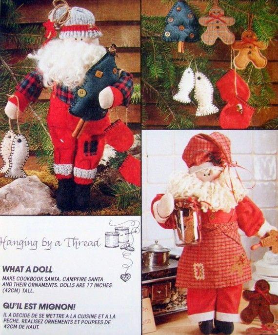Fisherman Chef Santa Claus Doll Sewing Pattern Christmas Dolls