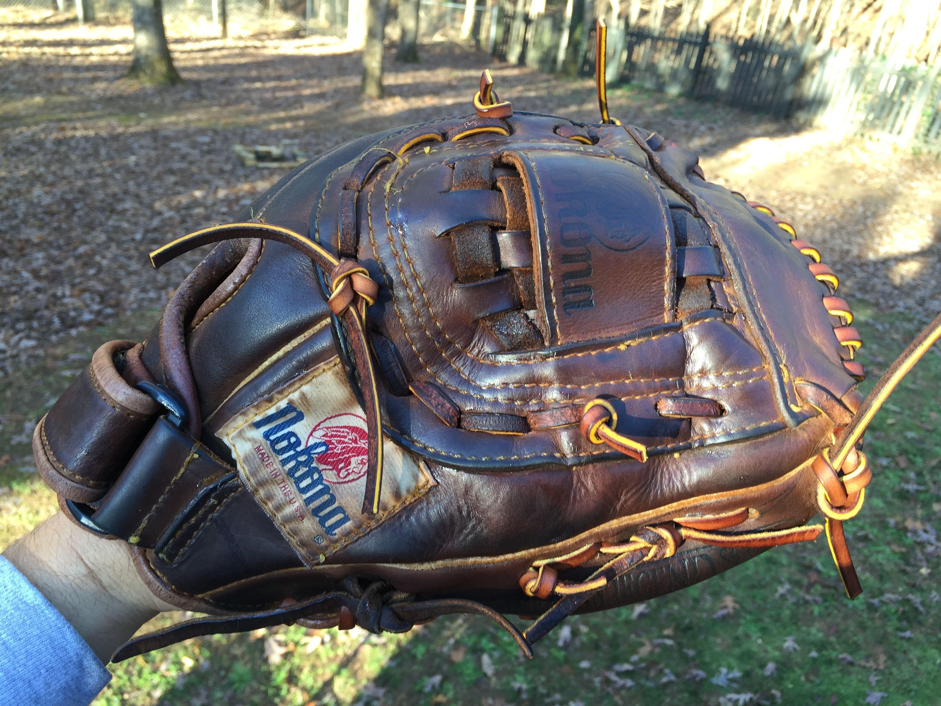 Relaced And Reconditioned Nokona American Heritage Series Glove Baseball Glove Baseball Gear Duffle