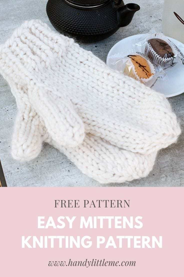 Easy Mittens Knitting Pattern | Handy Little Me