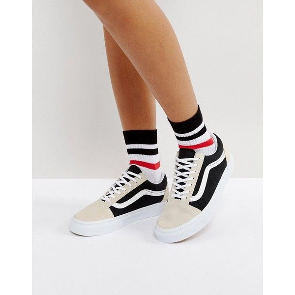 b4fc485489 Vans Old Skool Sneakers In Colour block Suede ( 87) ❤ liked on Polyvore  featuring shoes