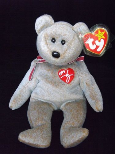 New 1999 Signature Bear Ty Beanie Baby Babies RARE Typo Misprint-Gasport  Retired 3829c2588a