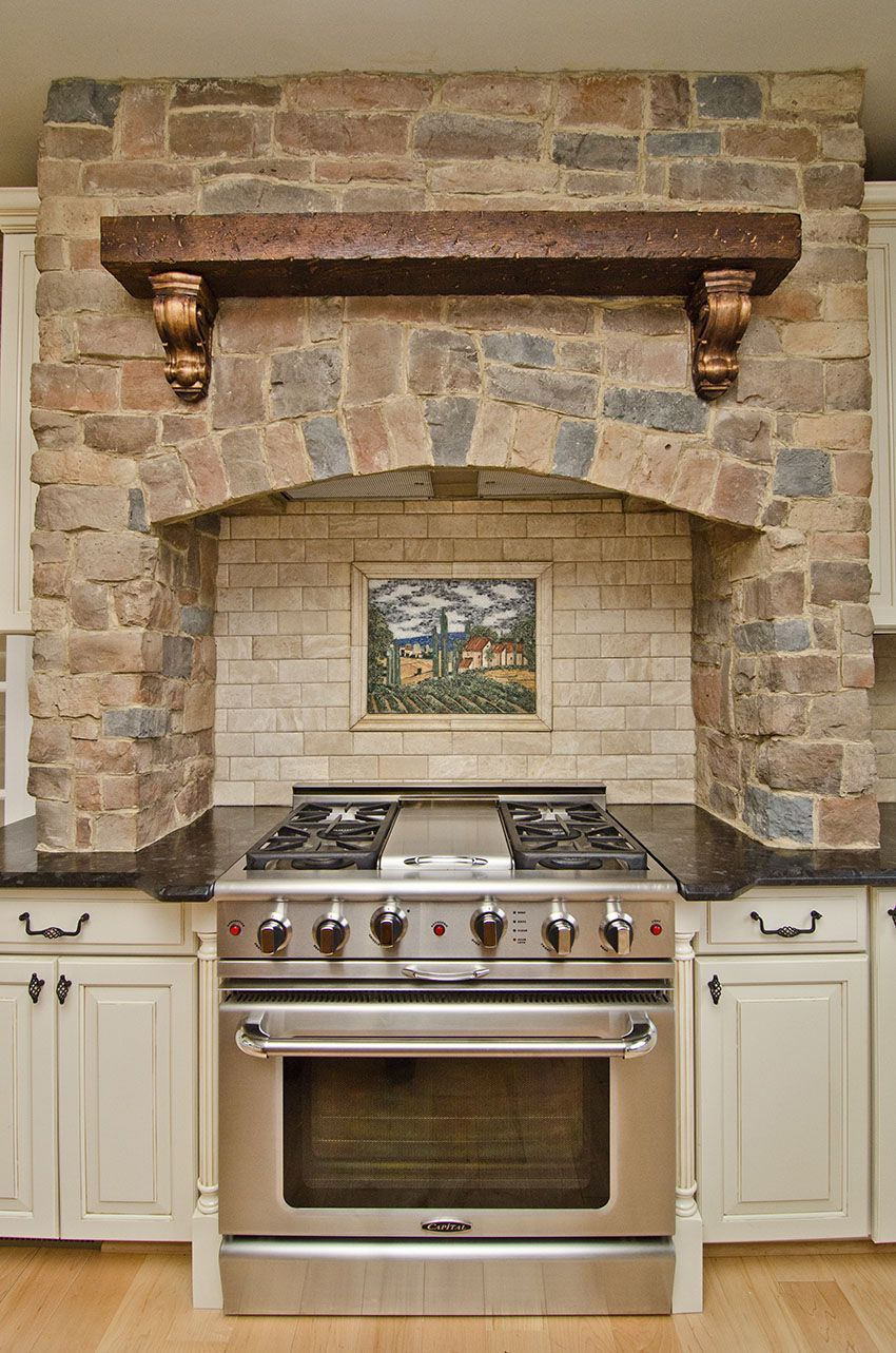 Leathered Antique Brown Granite and stone around