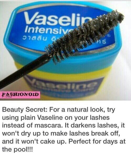 e72a3a634e3 Vaseline - mascara alternative Beauty Tips For Face, Beauty Secrets, Beauty  Hacks, Hair