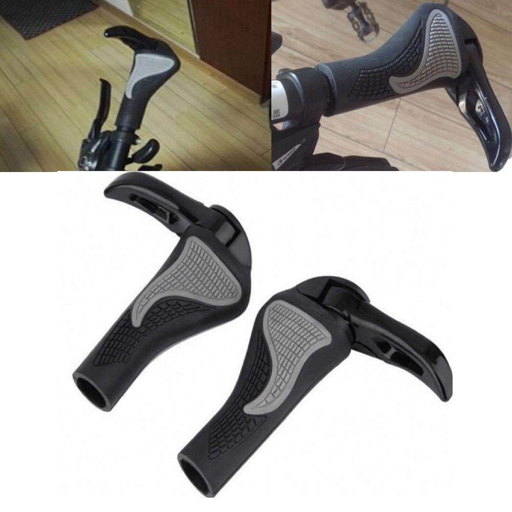 Cycling Mountain Bike Bicycle Handlebar Handle Bar Grips End LOCK-ON Ergonomic