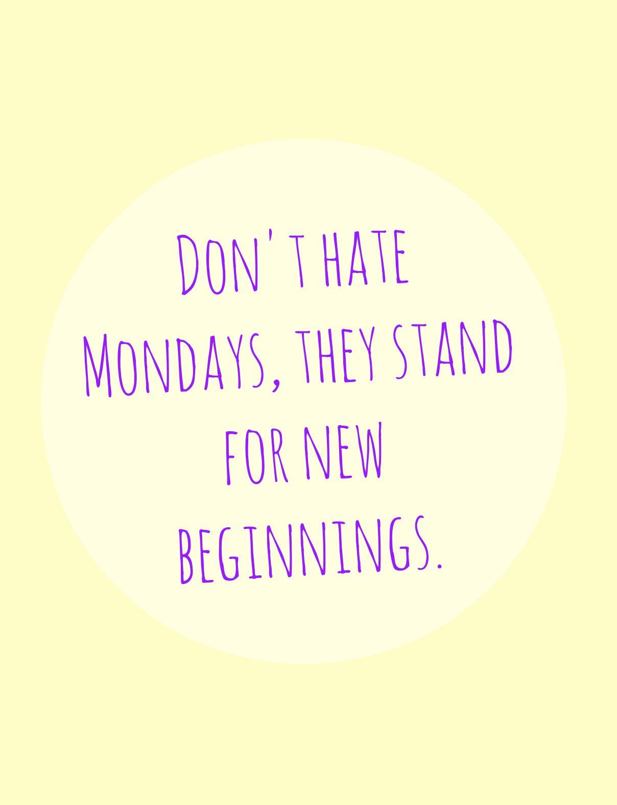 Good Morning! New day, new week, new month = fresh start ...