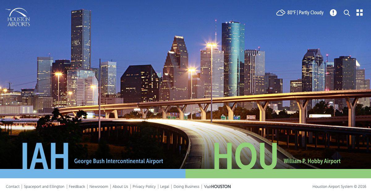 Houston airline operators Houston airport, bush