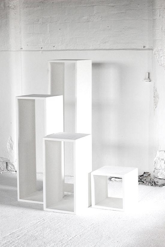 Exhibition Display Plinths : Hollow wooden plinths display exhibition