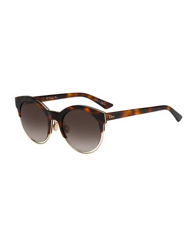 1b37940257 Sideral 1 Metallic-Trim Cat-Eye Sunglasses