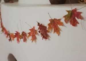Fall Leaf Garland - Sprouting Wild Ones #leafgarland