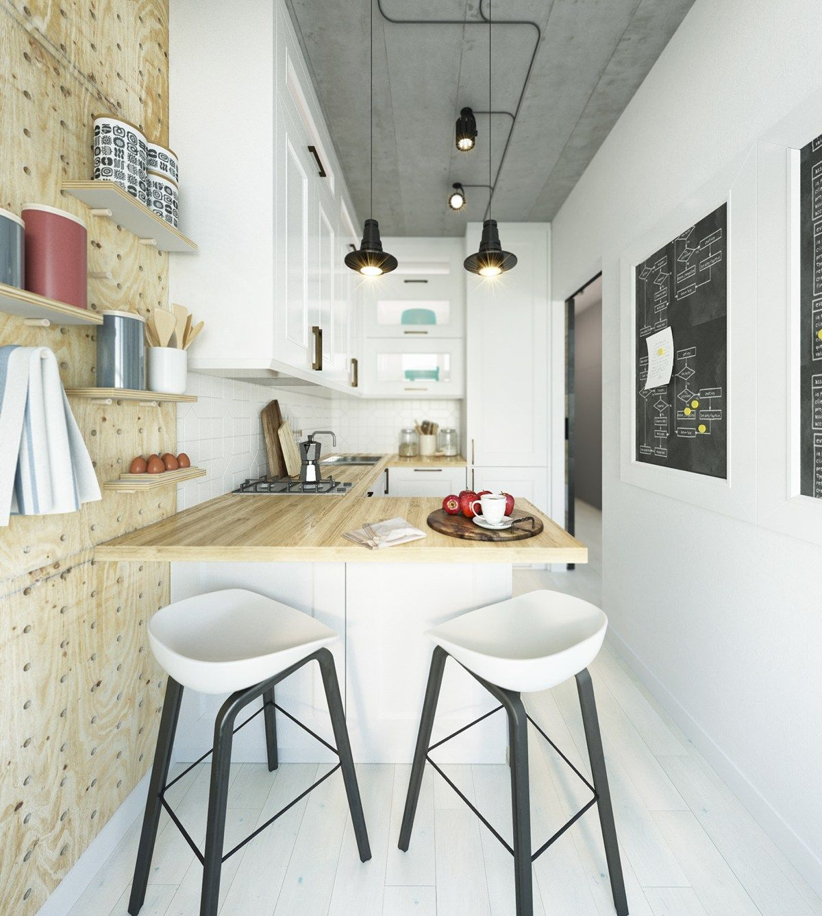 Living Room And Kitchen Stage By Synergy Staging: Two Takes On The Same Super-Small Apartment