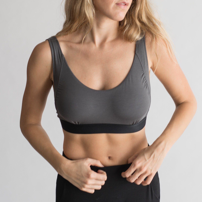 Lunya Women's Sleepwear Well-Rounded Bralette - Eclipse/Black | Lunya