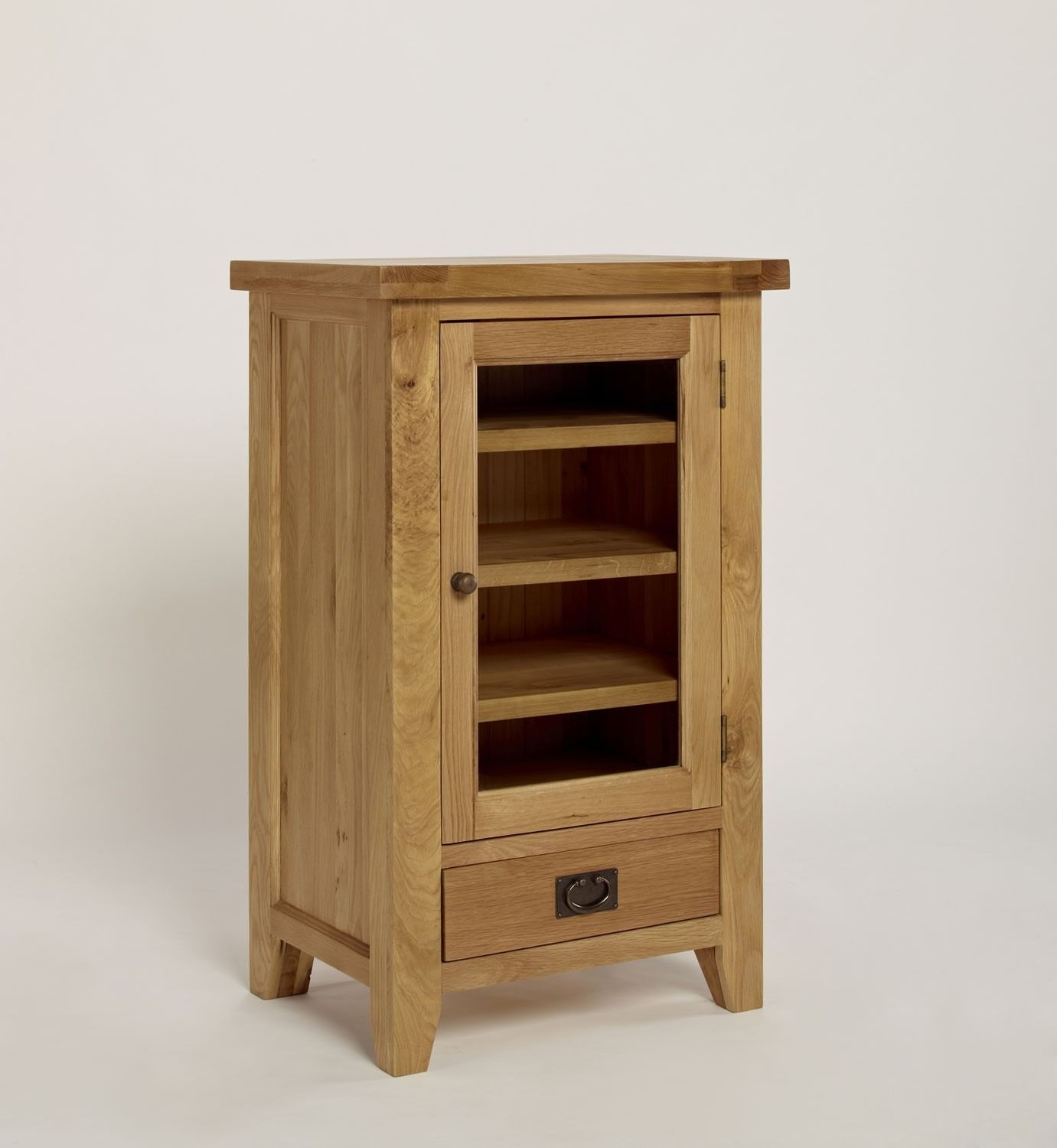 Provence Oak Hi Fi Cabinet Crafted From North American Oak This