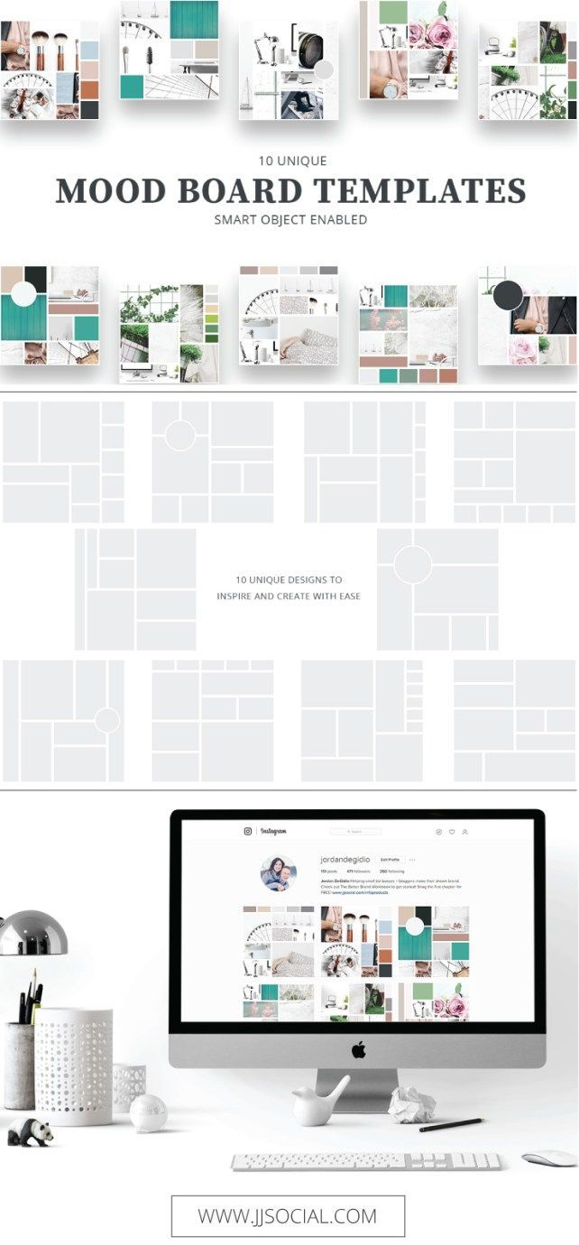 Interior Design Style Guide mood board templates | graphic design inspiration, mood boards and