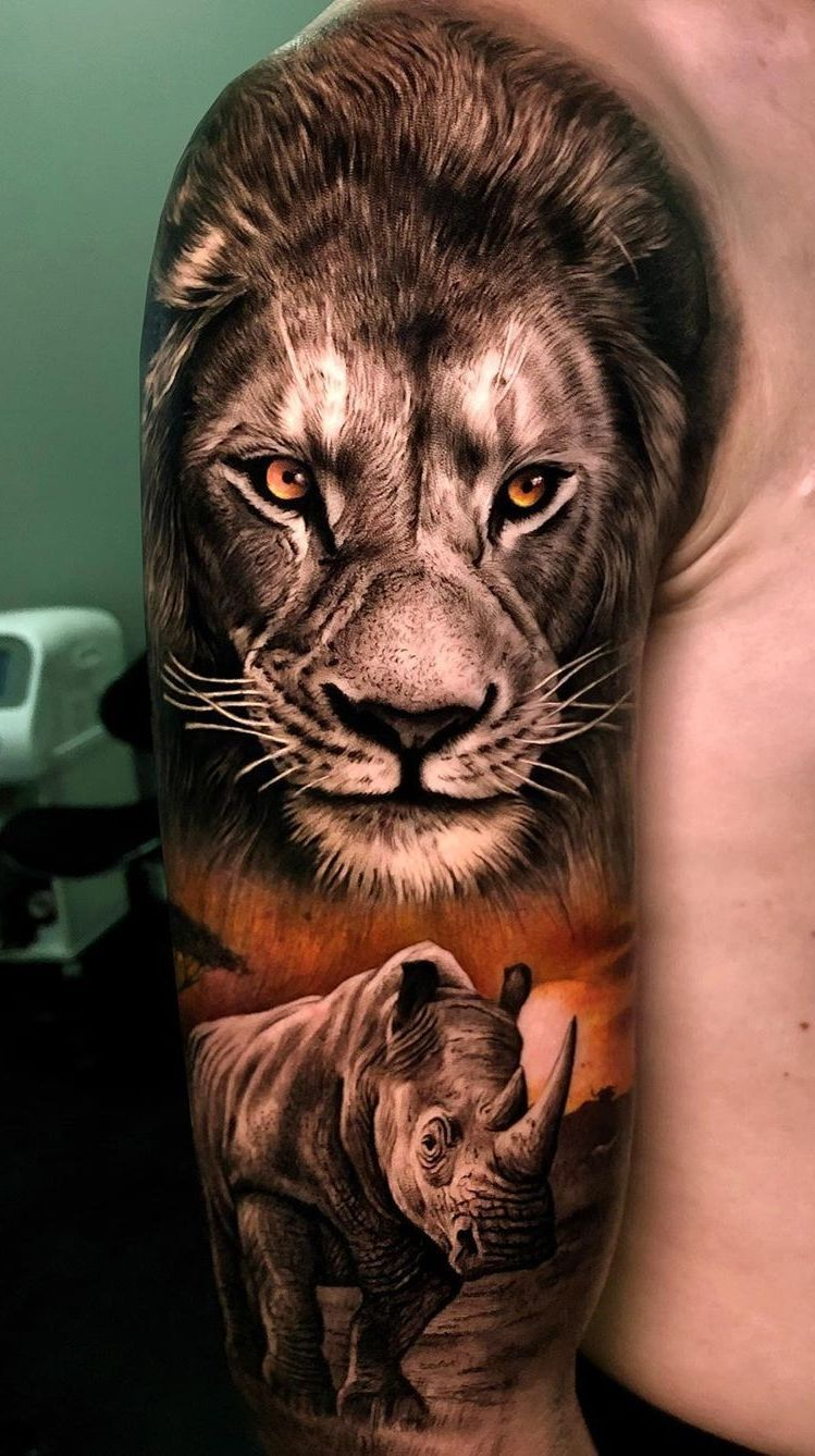 50 Eye Catching Lion Tattoos That Ll Make You Want To Get Inked In 2020 Lion Head Tattoos Lion Tattoo Sleeves Tribal Animal Tattoos