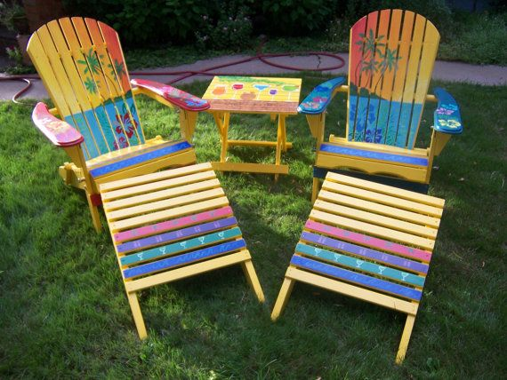 Adirondacks all painted Furniture and Carpentry Projects - sillas de playa