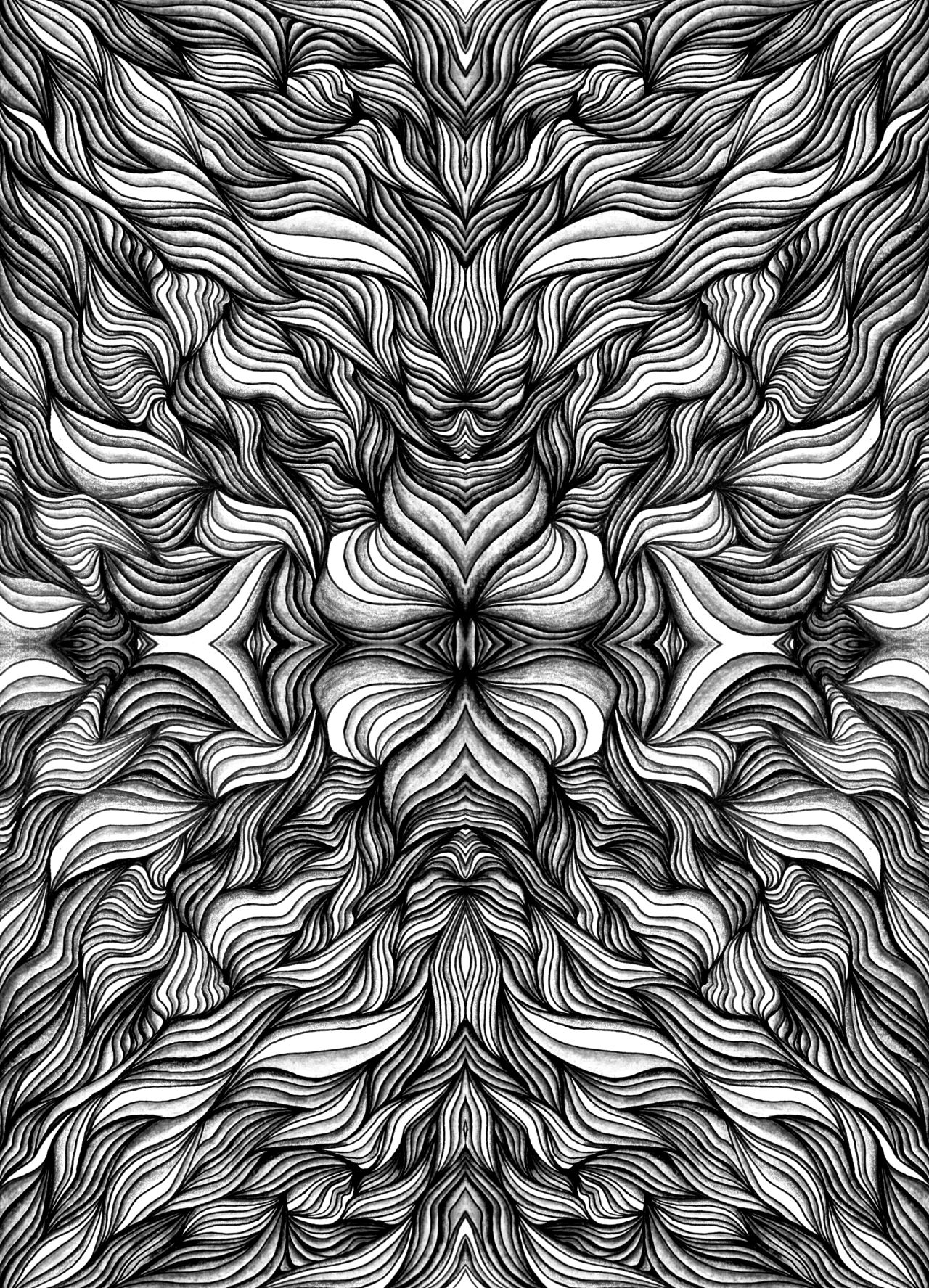 Black White Psychedelic Art Psychedelic Art Smoke Art