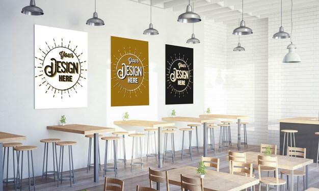 9 Best Free Cafeteria Mockup Psd Templates 11 Mockup Psd Coffee Shops Interior Mockup