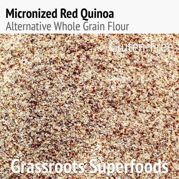 Micronized Inca Red Quinoa Flour 1lb