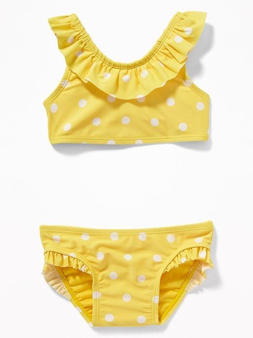 93f8177b37991 Printed Ruffled Bikini for Toddler Girls | Old Navy #kids #polkadots ...